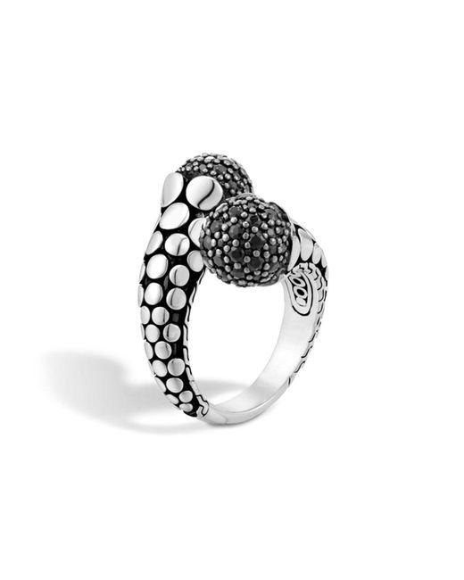 John Hardy | Metallic Women's Dot Silver Lava Toi Moi Ring With Black Sapphire | Lyst