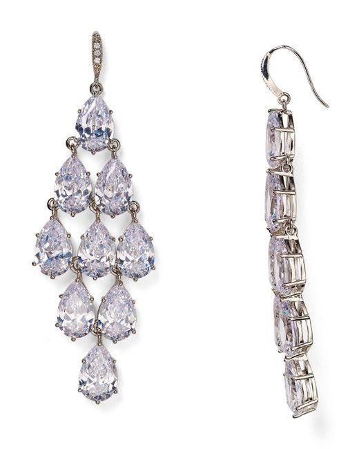 Carolee | Metallic Pave Kite Chandelier Earrings | Lyst