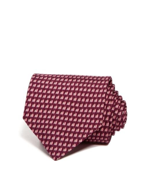 Ferragamo | Purple Snail Classic Tie for Men | Lyst