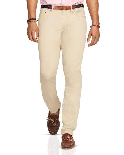 Polo Ralph Lauren | Natural Varick Cotton Chinos for Men | Lyst
