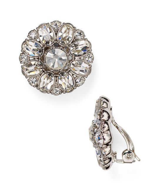 Carolee | Metallic Embellished Clip-on Earrings | Lyst