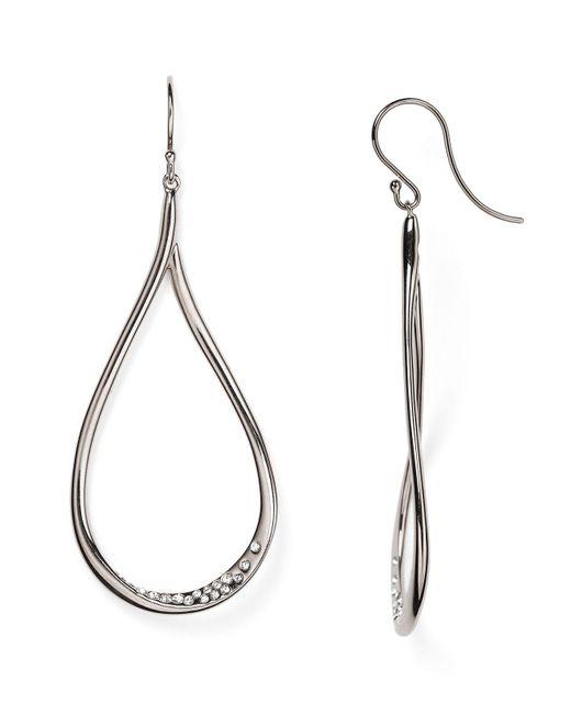 Nadri   Metallic Crystal-studded Drop Earrings   Lyst