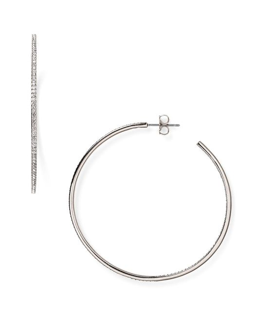 Nadri | Metallic Pavé Hoop Earrings | Lyst
