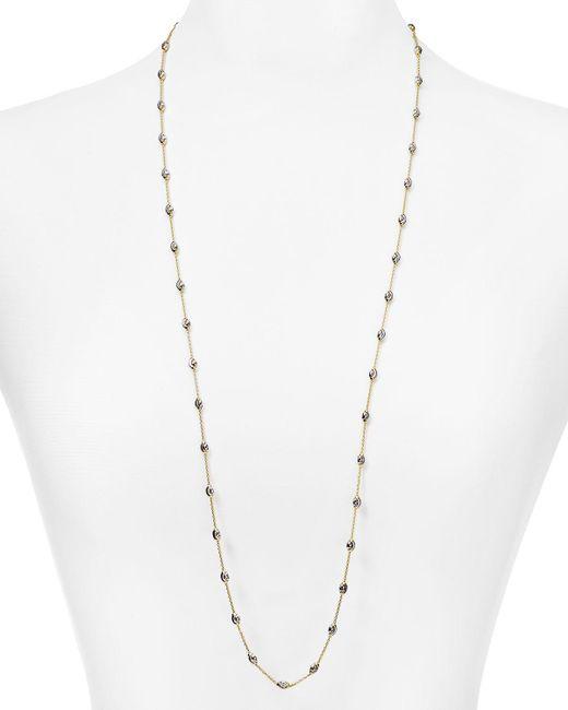 "Officina Bernardi | Metallic Beaded Necklace, 36"" | Lyst"