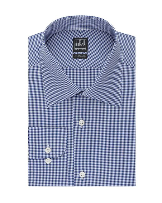 Ike Behar | Blue Mini Check Classic Fit Dress Shirt for Men | Lyst