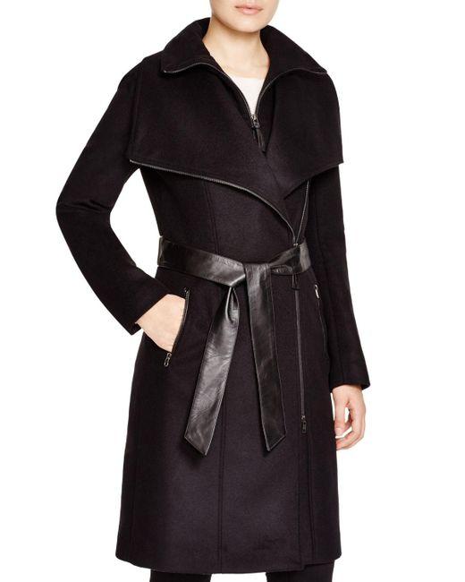 Mackage   Black Nori Asymmetric Belted Coat   Lyst