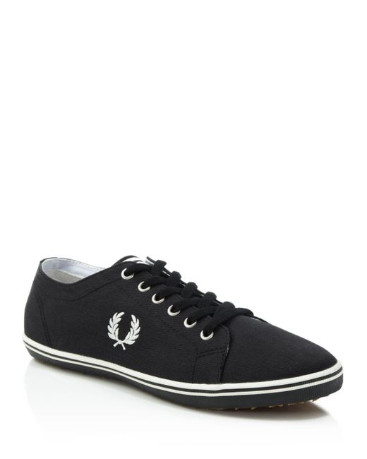 Fred Perry | Black Kingston Twill Sneakers for Men | Lyst