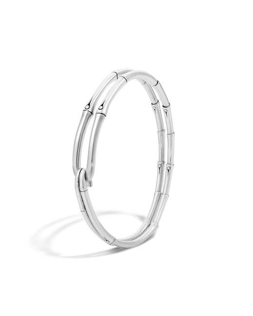 John Hardy   Metallic Bamboo Silver Hook Bracelet   Lyst