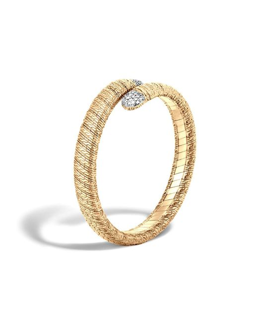 John Hardy | Metallic Classic Chain 18k Gold Diamond Pave Single Coil Bracelet | Lyst