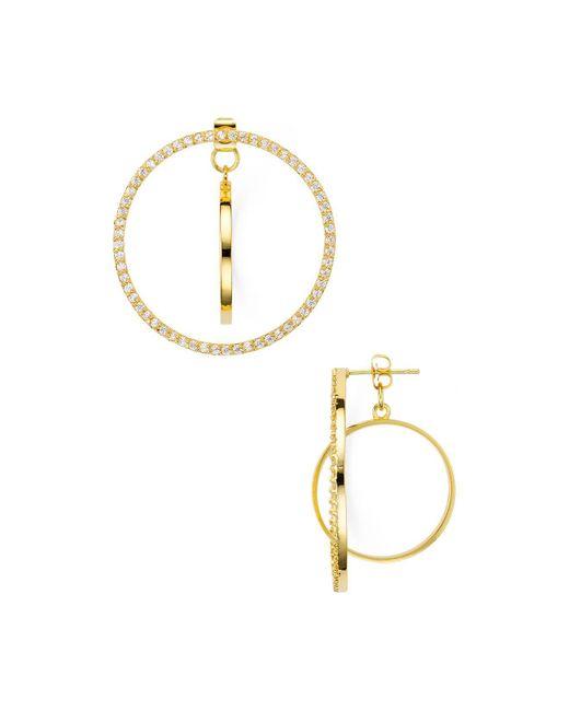 Argento Vivo | Metallic Hoop Double Drop Front-back Earrings | Lyst