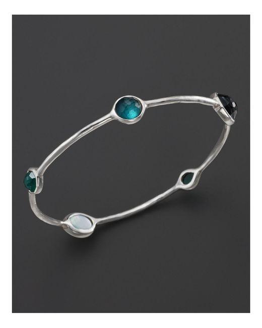 Ippolita | Green Rock Candy Sterling Silver Wonderland Bangle In Neptune | Lyst