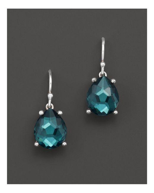 Ippolita | Green Rock Candy Sterling Silver Wonderland Pear Drop Earrings In Kelly Doublet | Lyst