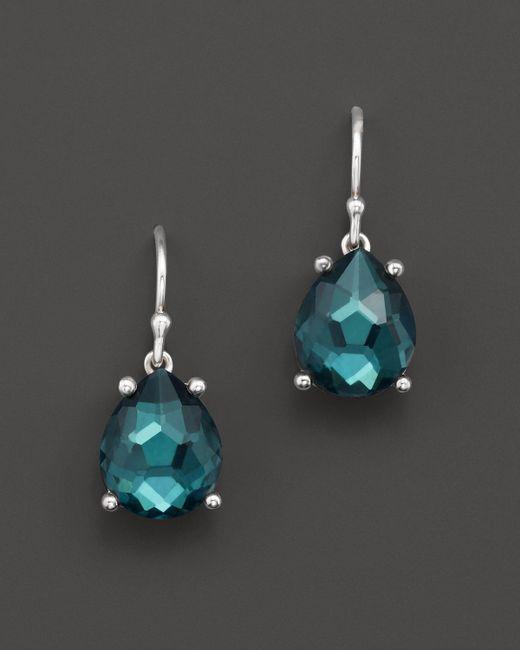 Ippolita   Green Rock Candy Sterling Silver Wonderland Pear Drop Earrings In Kelly Doublet   Lyst