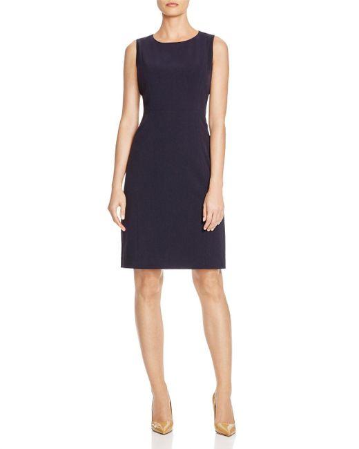 T Tahari | Blue Cali Sheath Dress | Lyst
