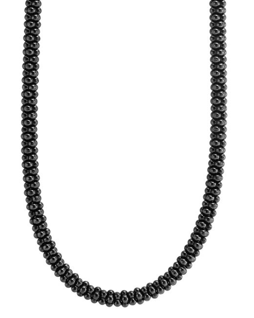 Lagos | Black Caviar Ceramic Necklace With 18k Gold, 16"