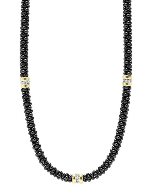 Lagos | 'black Caviar' Station Necklace | Lyst