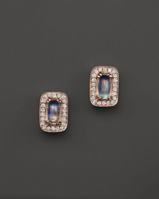 Dana Rebecca | Pink Sylvie Rose Moonstone Stud Earrings | Lyst