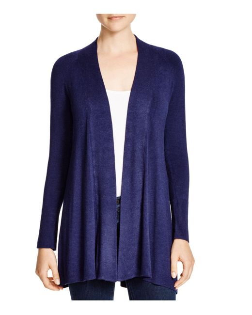 Eileen Fisher | Blue Heathered Knit Cardigan | Lyst