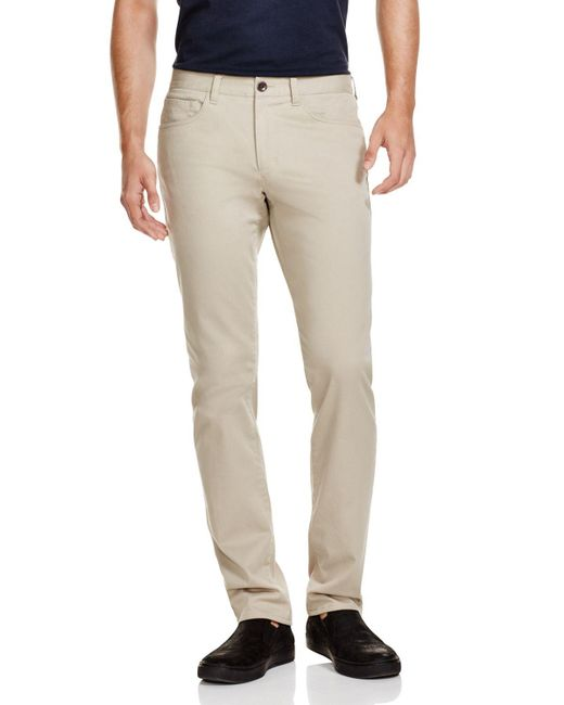 VINCE | Natural Essential Soho Slim Fit Twill Chinos | Lyst