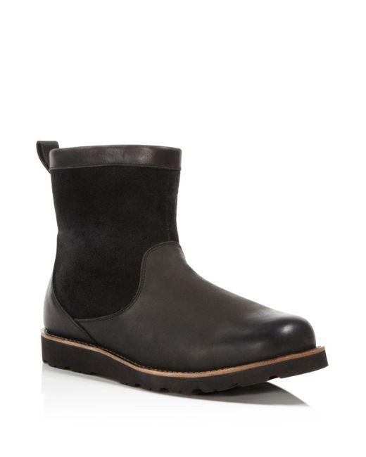 Ugg | Black Australia Hendren Tl Waterproof Side Zip Boots | Lyst