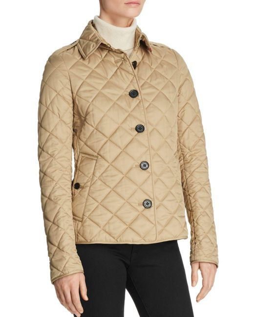 Burberry - Natural Frankby Quilted Jacket - Lyst