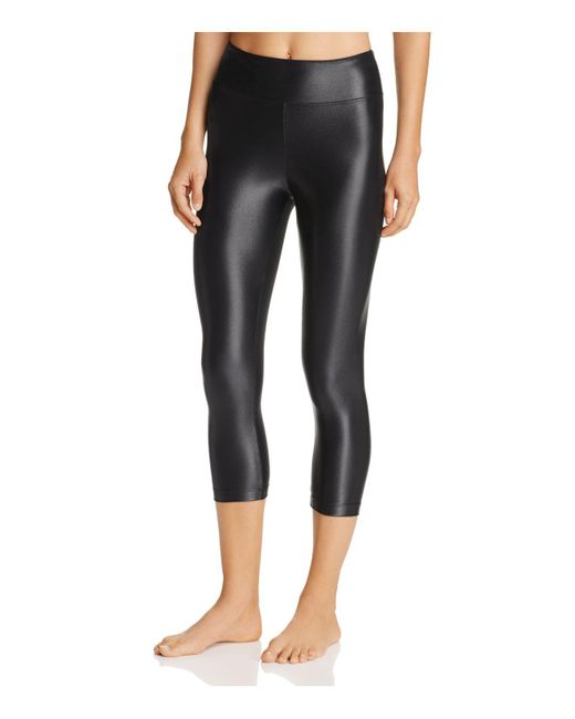 Koral | Black Lustrous High-rise Capri Leggings | Lyst