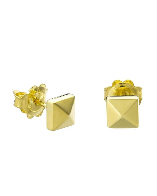 Chimento   Metallic 18k Yellow Gold Armillas Pyramis Collection Square Stud Earrings   Lyst