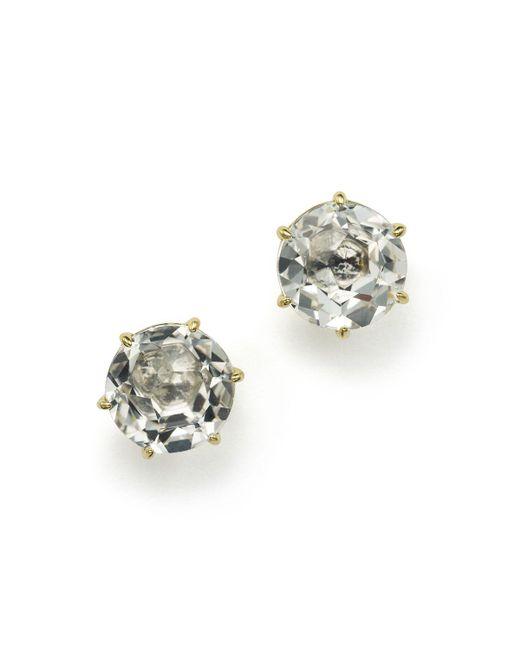 Ippolita | Metallic 18k Gold Rock Candy Medium Round Stud Earrings In Clear Quartz | Lyst