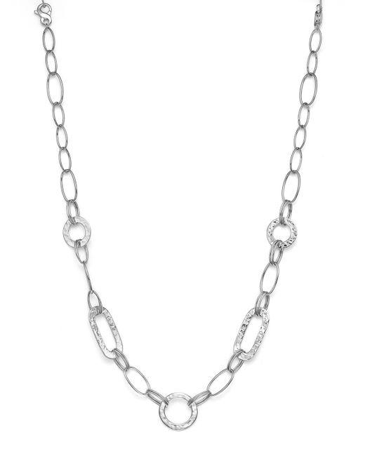 "Ippolita | Metallic Sterling Silver Glamazon Link Necklace, 20"" | Lyst"