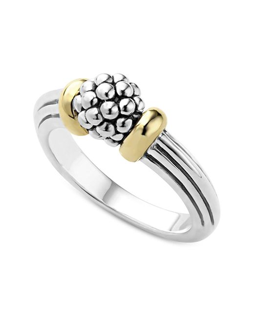 Lagos | Metallic 18k Gold Caviar Forever Small Dome Ring | Lyst