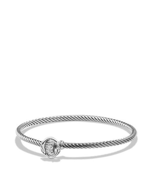 David Yurman | Metallic Infinity Bracelet With Diamonds | Lyst
