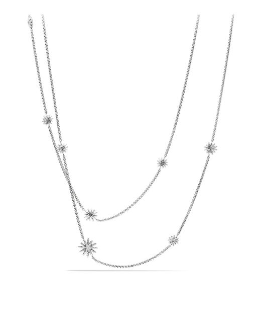 David Yurman | Metallic Starburst Station Necklace With Diamonds | Lyst