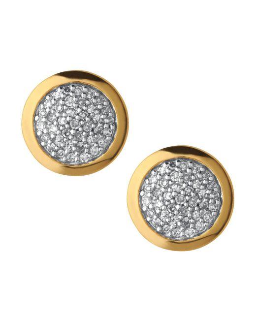 Links of London   Metallic Diamond Essentials Pave Round Stud Earrings   Lyst