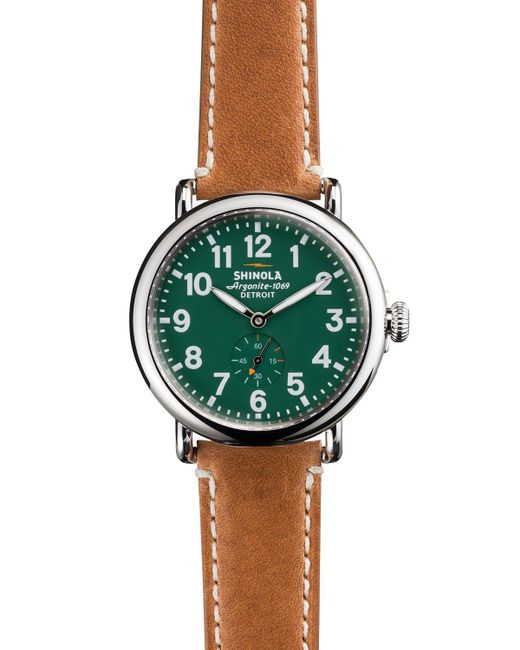 Shinola | Green Runwell Sub Second Watch, 41mm for Men | Lyst