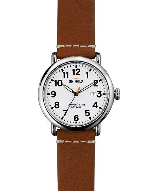 Shinola   Brown Runwell Watch, 41mm for Men   Lyst