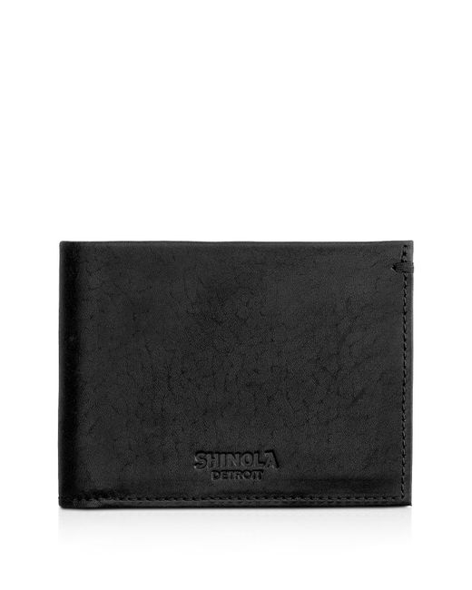 Shinola | Black Slim Bifold Wallet for Men | Lyst