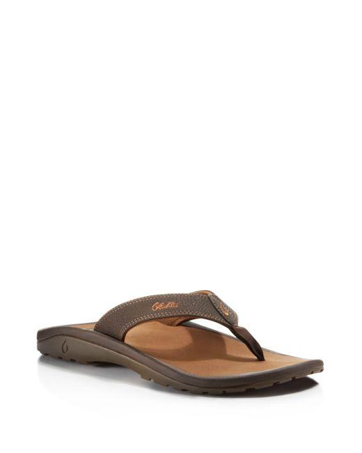 Olukai | Brown Ohana Flip-flops for Men | Lyst