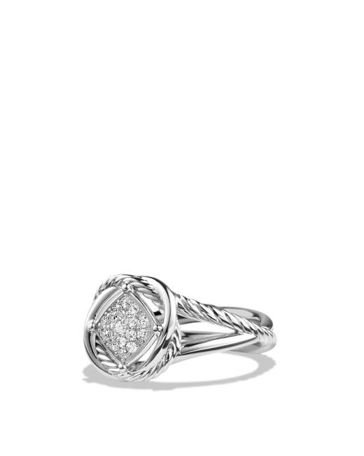 David Yurman | Metallic Infinity Ring With Diamonds | Lyst