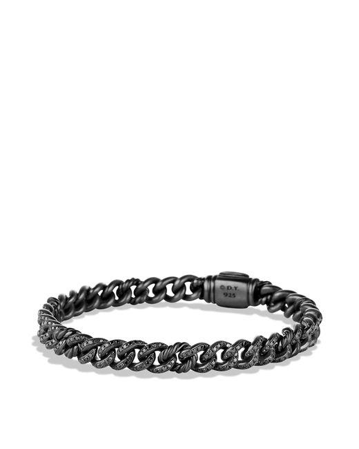 David Yurman | Petite Pavé Curb Link Bracelet With Black Diamonds | Lyst