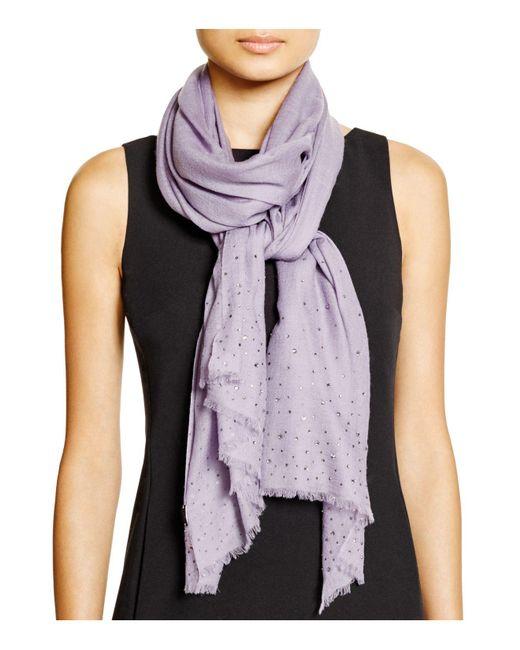 Fraas | Purple Sparkle Wrap Scarf | Lyst