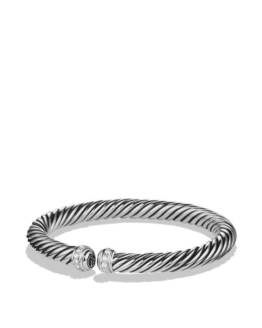 David Yurman | Metallic Cable Spira Bracelet With Diamonds | Lyst