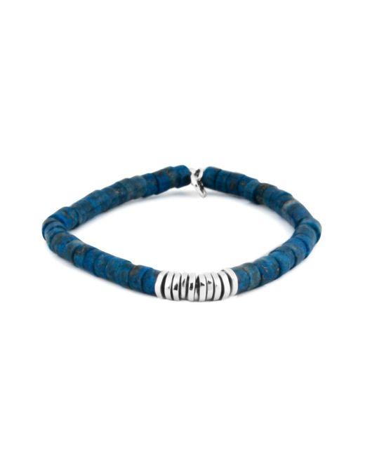 Tateossian | Multicolor Lapis Rhodium Disc Bead Bracelet for Men | Lyst