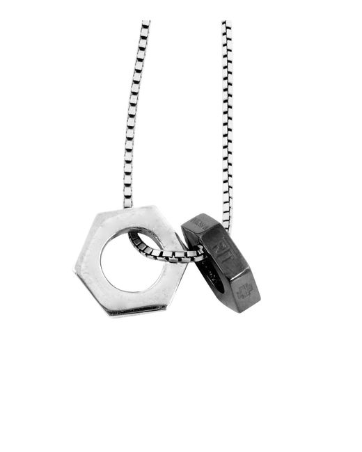 Tateossian | Multicolor Gunmetal Chain Bolt Necklace for Men | Lyst