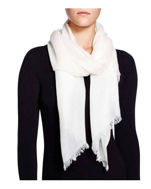 Fraas | White Cashmere Solid Wrap Scarf | Lyst