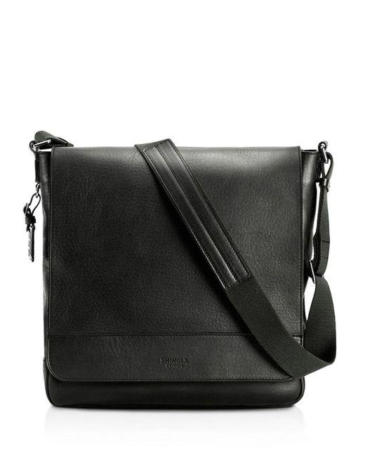 Shinola   Black Essex Leather Messenger Bag   Lyst