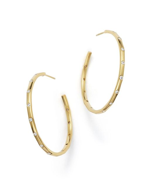 Ippolita | Metallic 18k Gold Glamazon Stardust Hoop Earrings With Diamonds | Lyst