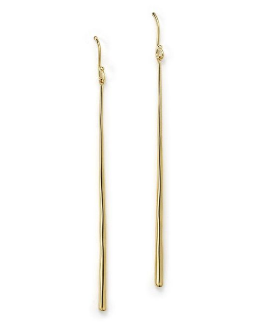 Ippolita | Metallic 18k Gold Glamazon Thin Elongated Earrings | Lyst