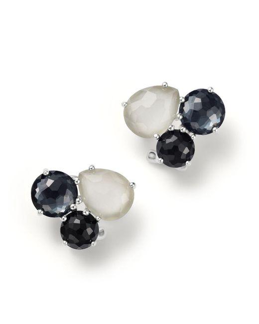 Ippolita | Multicolor Sterling Silver Rock Candy Cluster Stud Earrings In Black Tie | Lyst