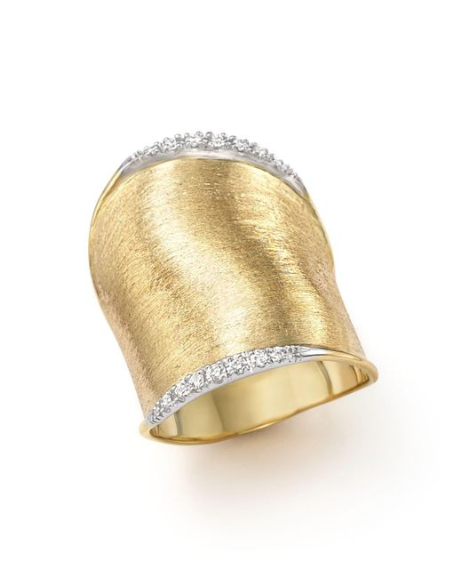 Marco Bicego | Metallic Diamond Lunaria Large Ring In 18k Yellow Gold | Lyst