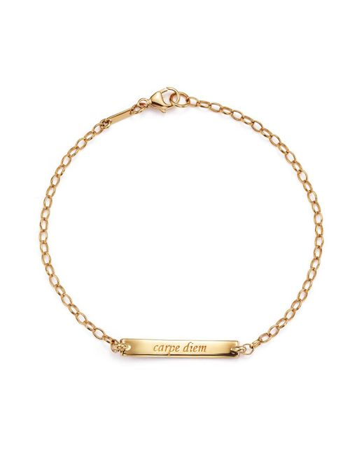 "Monica Rich Kosann | Metallic 18k Rose Gold Diamond Pave ""carpe Diem"" Posey Bracelet 